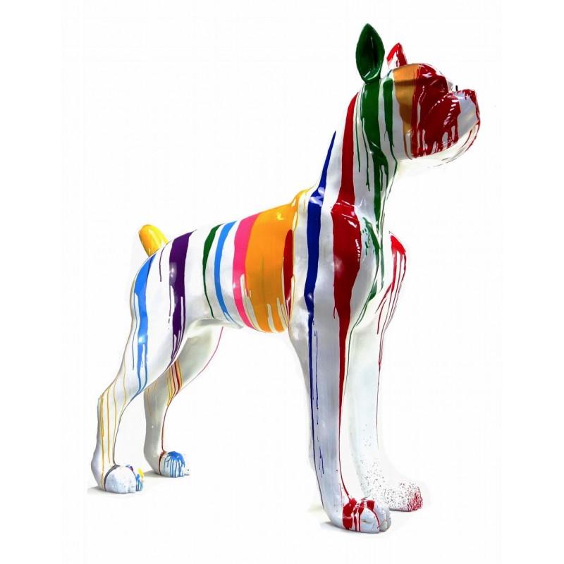Statue sculpture décorative design CHIEN DEBOUT FLASHY en résine H150 cm (Multicolore) - image 43845