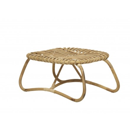 Mesa de centro, grano de ratán natural estilo vintage BOUCLE