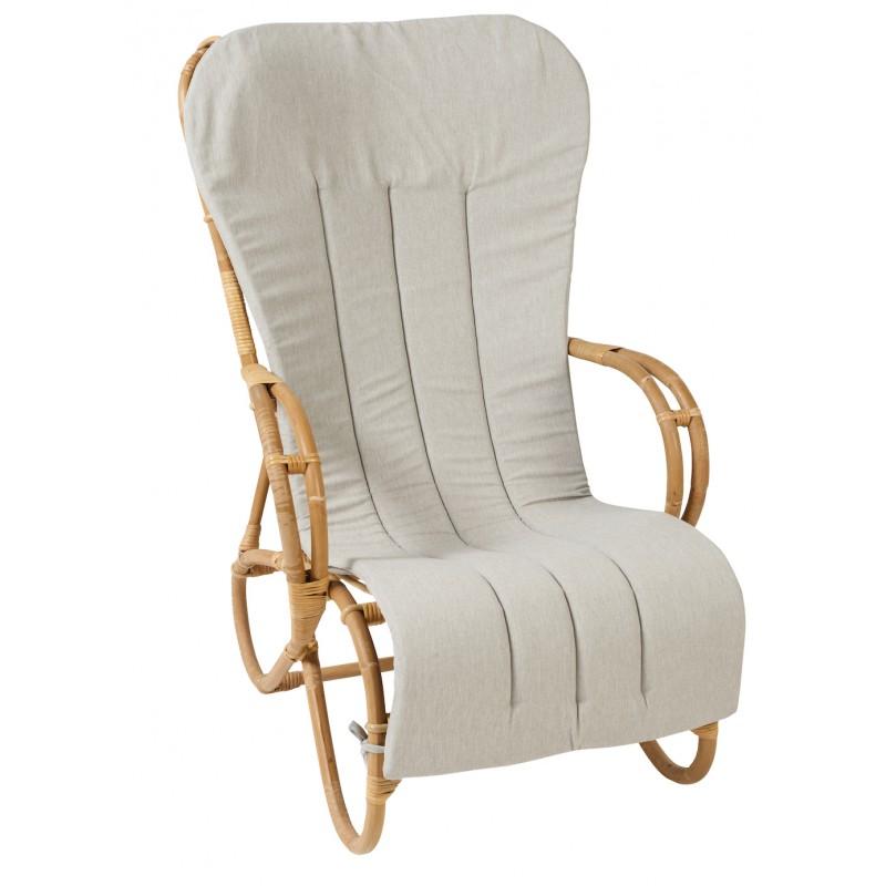 Coussin de rocking chair MARLENE en tissu (gris clair) - image 44318