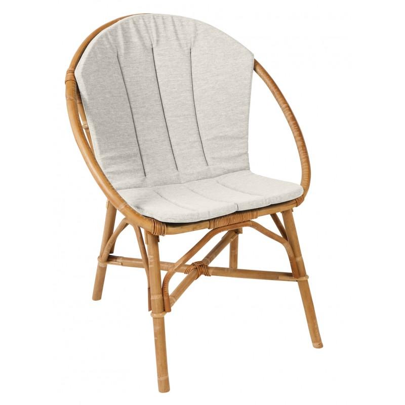 Coussin de fauteuil BRUNO en tissu (gris clair) - image 44320
