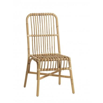 Chaise en rotin naturel VALERIE style vintage