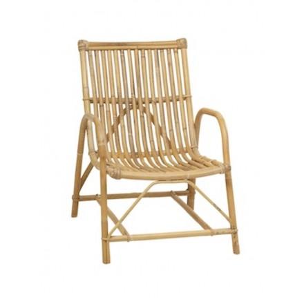Sedia in rattan naturale in stile vintage Olivier