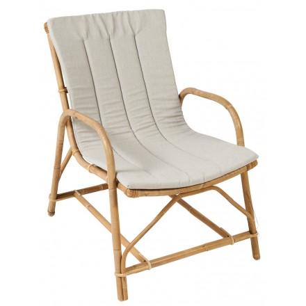 Coussin de fauteuil OLIVIER en tissu (gris clair)