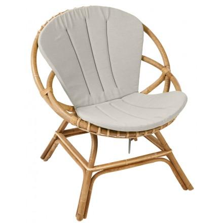 Cuscino sedia BRIGITTE in tessuto (grigio chiaro)