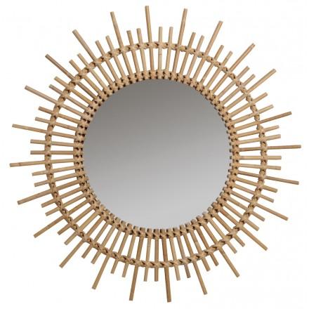 Espejo de ratán vintage PLANETE