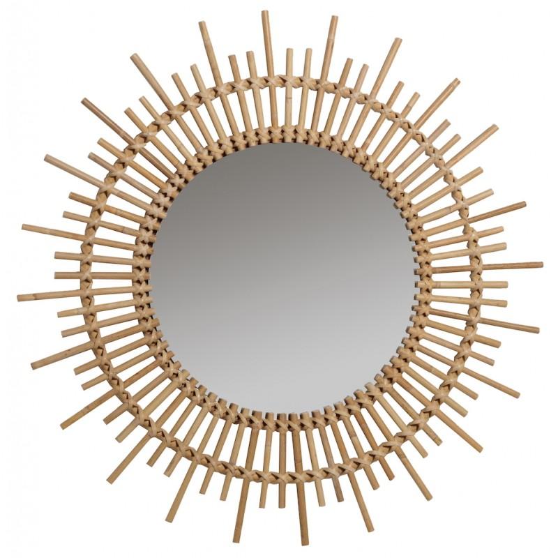 Espejo de ratán vintage PLANETE - image 44353