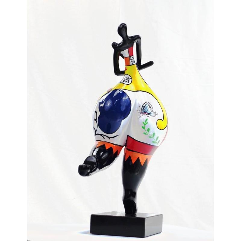 Set de 3 statues sculptures décoratives design FEMME RUMBA en résine H51 (multicolore) - image 44383