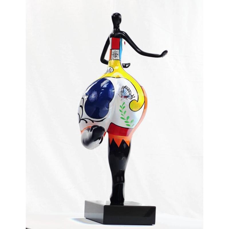 Set of 3 design decorative sculptures woman RUMBA statues resin H51 (multicolor) - image 44385