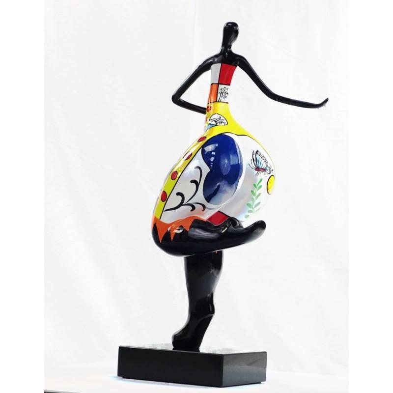 Set de 3 statues sculptures décoratives design FEMME RUMBA en résine H51 (multicolore) - image 44388