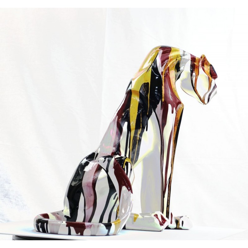 Statuette design decorative sculpture Panther Savannah resin H100 (multicolor) - image 44403