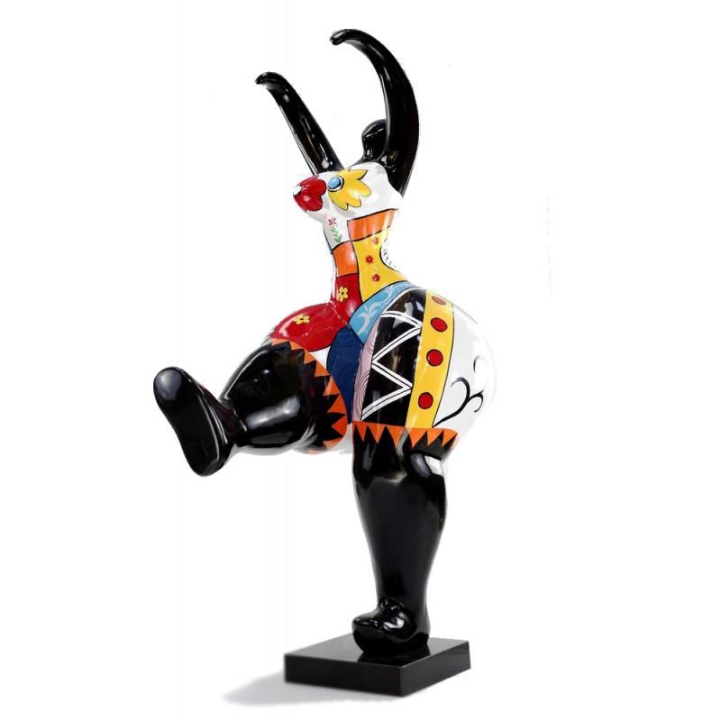 Escultura de la estatua de mujer de diseño decorativo bola resina (multicolor) - image 44415