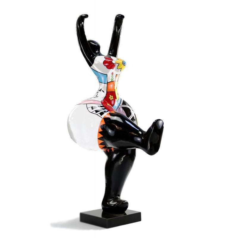 Decorativo donna statua scultura sfera resina (multicolor) - image 44417