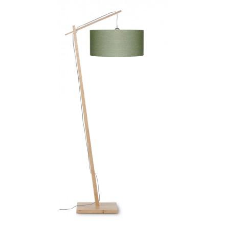 Lampada di lino verde ANDES (naturale, verde scuro)