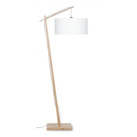 Lampada di lino verde AnDES (naturale, bianca)