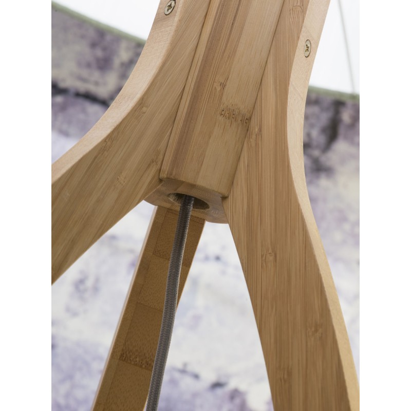 Lámpara de pie de bambú y pantalla de lino ecológica annaPURNA (natural, lino ligero) - image 44507