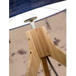 Lampe de table en bambou et abat-jour lin écologique ANNAPURNA (naturel, bleu jeans)