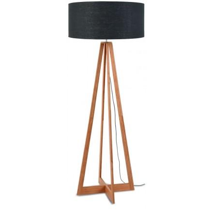 EverEST lampada di lino verde (naturale, grigio scuro)