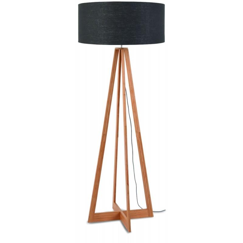 EverEST green linen lamp (natural, dark grey) - image 44554