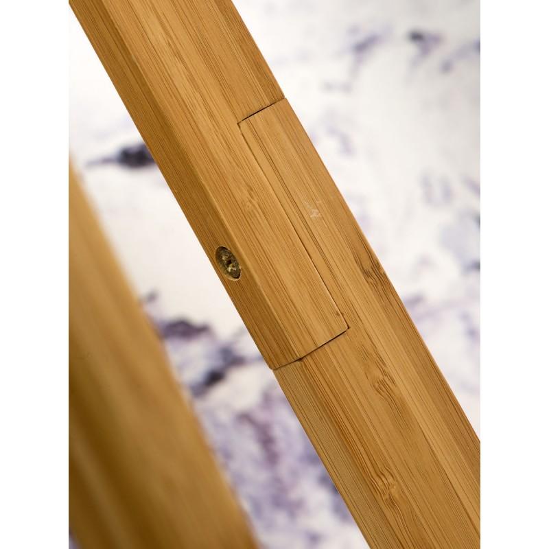 EverEST lampada in piedi di bambù e paralume di lino ecologico (lino naturale e leggero) - image 44579