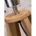 Lampe de table en bambou et abat-jour lin écologique EVEREST (naturel, noir)