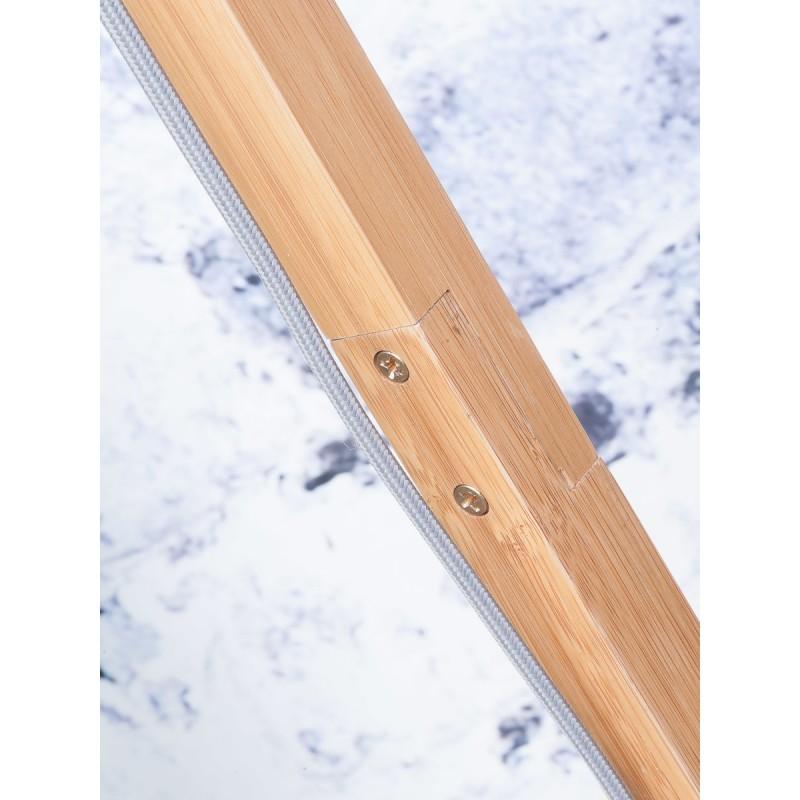 Lámpara de pie de bambú y pantalla de lino ecológica FUJI (natural, lino ligero) - image 44660