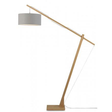 MontBLANC grüne Leinen Lampe und grüne Leinen Lampenschirm (natürlich, hellgrau)