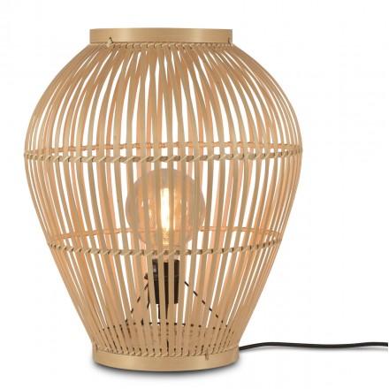 Lampada da tavolo, lampada da terra in bambù SMALL (H50) TUVALU (naturale)