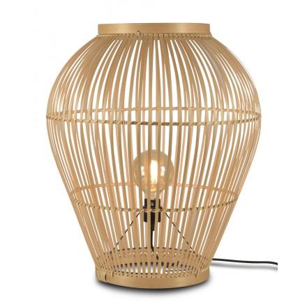 Lámpara de mesa, lámpara de pie de bambú XL (H70) TUVALU (natural)