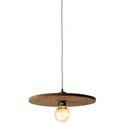 Lampe à suspension en liège ALGARVE (marron foncé)
