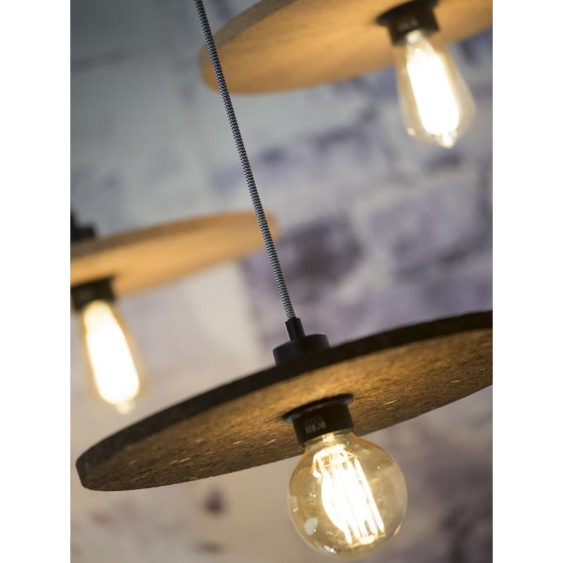 Lámpara de suspensión de corcho ALGARVE (marrón oscuro) - image 44987