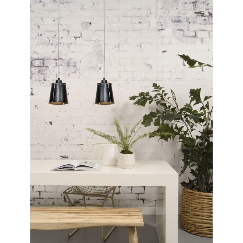 AMAZON SMALL 1 tonalità lampada sospensione pneumatici riciclati (nero) - image 45007