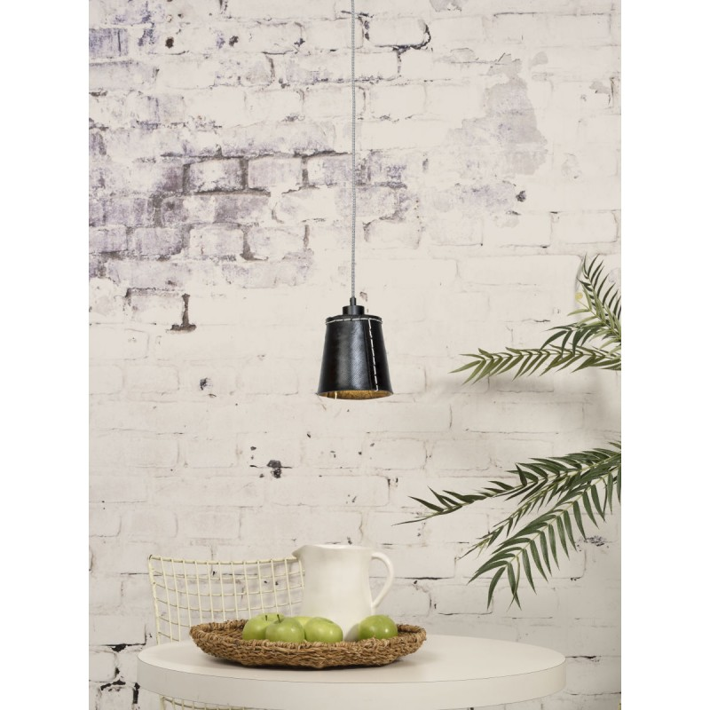 AMAZON SMALL 1 tonalità lampada sospensione pneumatici riciclati (nero) - image 45008