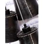 Lámpara de suspensión de neumáticos reciclada AMAZON SMALL 3 (negro)