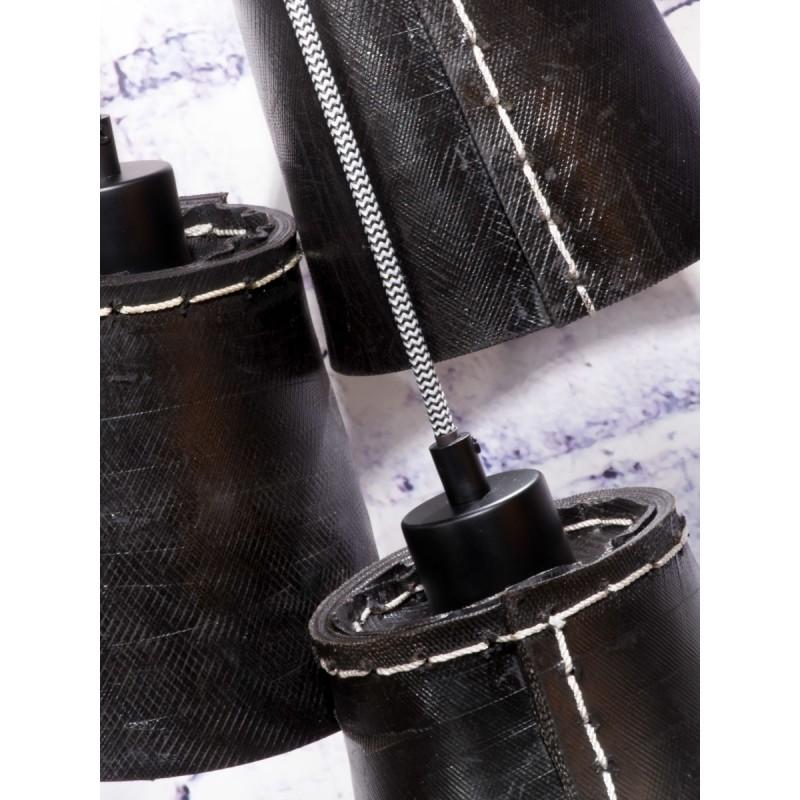 Lámpara de suspensión de neumáticos reciclada AMAZON SMALL 3 (negro) - image 45012
