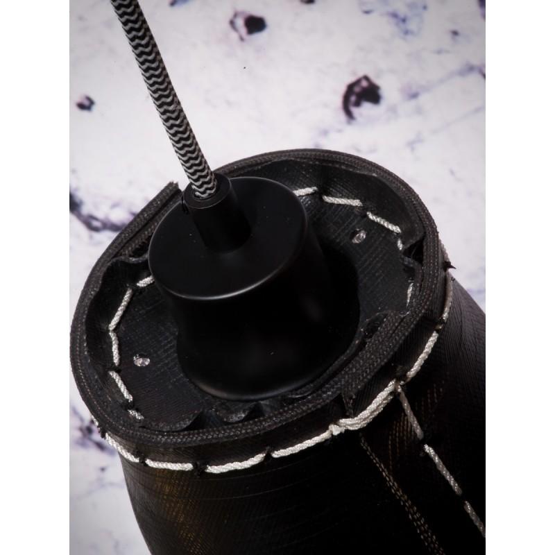 Lámpara de suspensión de neumáticos reciclada AMAZON SMALL 3 (negro) - image 45013