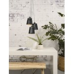 AMAZON SMALL 3 lampshade recycled tire suspension lamp (black)