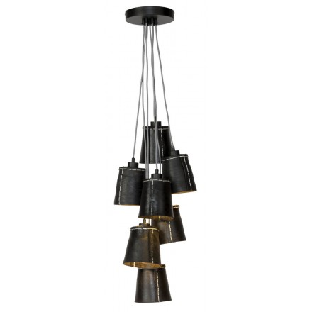 AMAZON SMALL 7 lampshade recycled tire suspension lamp (black)