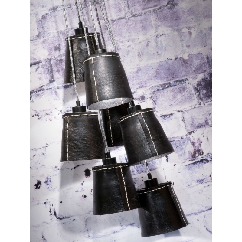 Amazon SMALL 7 paralume lampada pneumatici riciclati (nero) - image 45021