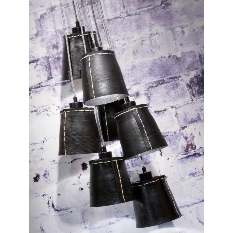 Lámpara de suspensión de neumáticos reciclada AMAZON SMALL 7 (negro) - image 45021