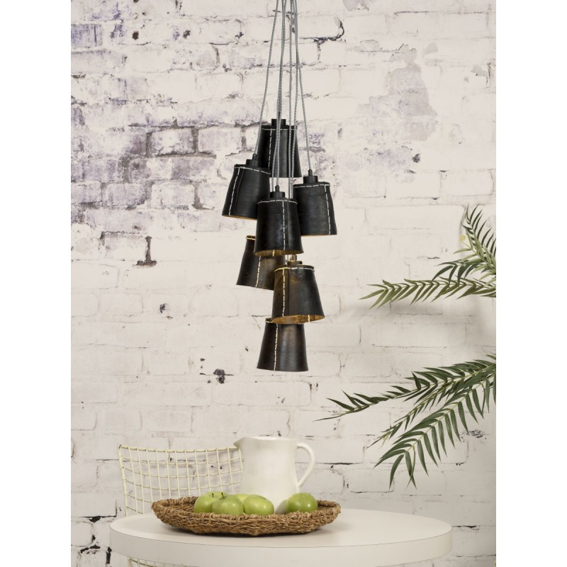 Amazon SMALL 7 paralume lampada pneumatici riciclati (nero) - image 45028