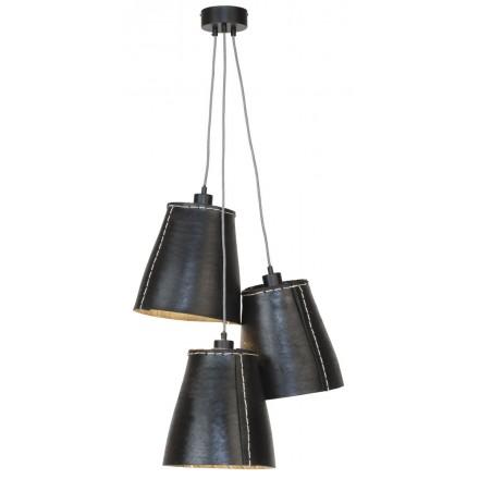AMAZON XL 3 Lampenschirm recycelt Reifen Hängeleuchte (schwarz)