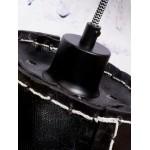 Lámpara de suspensión de neumáticos reciclada AMAZON XL 3 (negro)