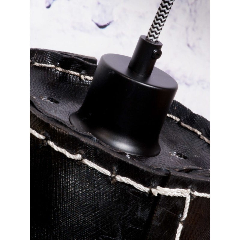 AMAZON XL 3 lampshade recycled tire suspension lamp (black) - image 45044