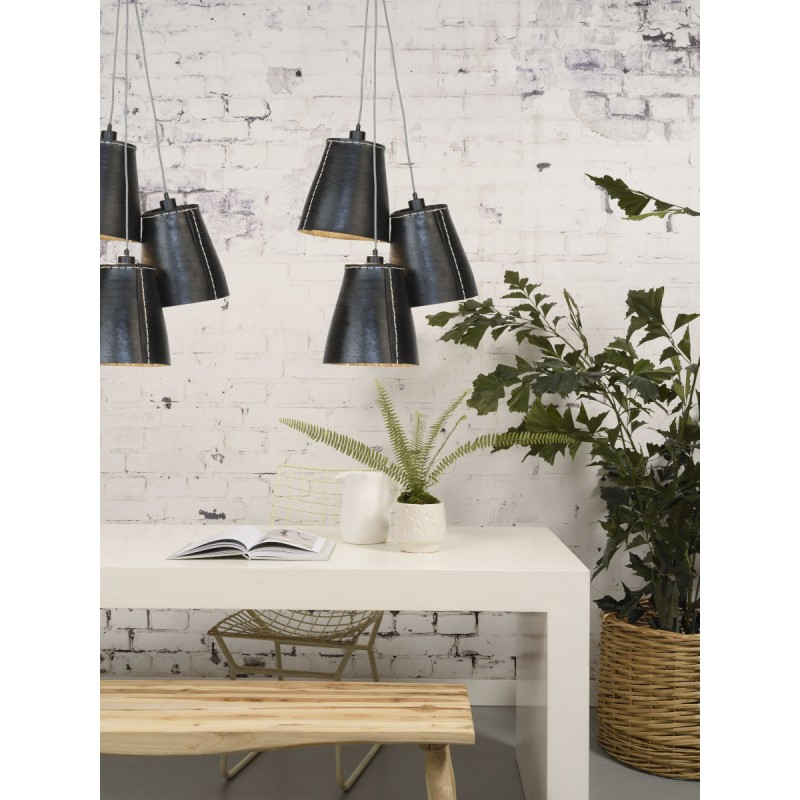 AMAZON XL 3 lampshade recycled tire suspension lamp (black) - image 45048