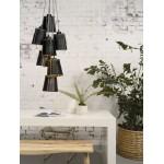AMAZON XL 7 Recycling Reifen Hängeleuchte Lampe Lampenschirm (schwarz)