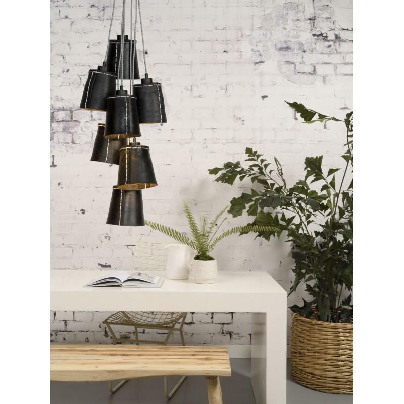 AMAZON XL 7 pneumatici riciclati lampada lampada tonalità lampada (nero) - image 45052