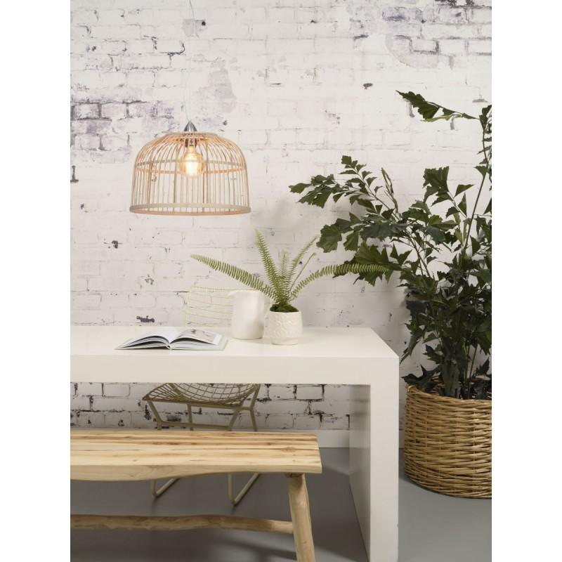 Lampe à suspension en bambou BORNEO SMALL (naturel) - image 45061