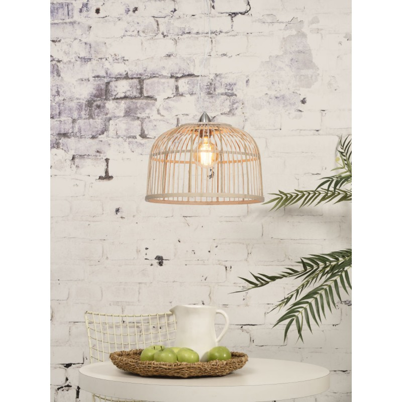 BORNEO SMALL bamboo suspension lamp (natural) - image 45064