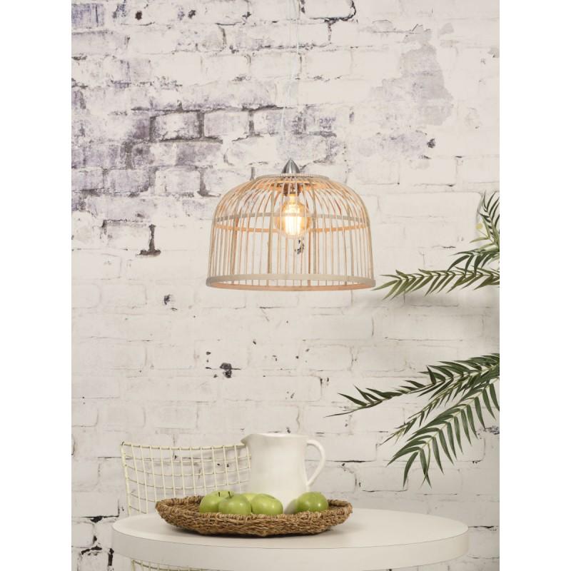 Lampe à suspension en bambou BORNEO SMALL (naturel) - image 45064