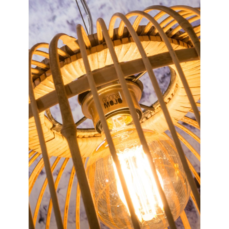Bambus Hängeleuchte BORNEO SMALL 2 Lampenschirme (natürlich) - image 45068